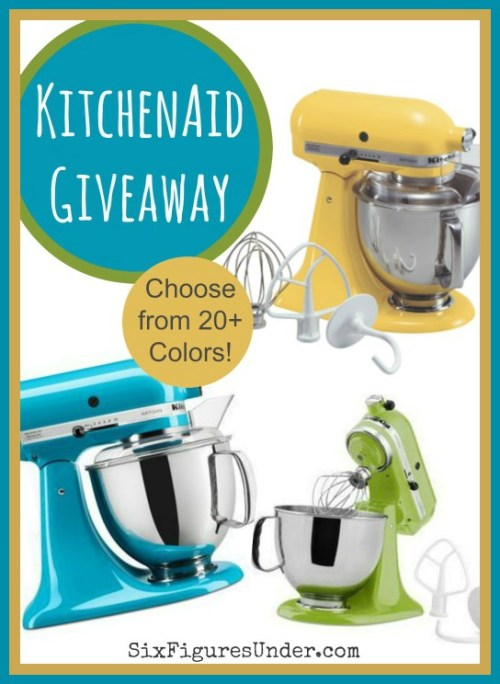 KitchenAid Giveaway on SixFiguresUnder.com-- Winner Chooses Color