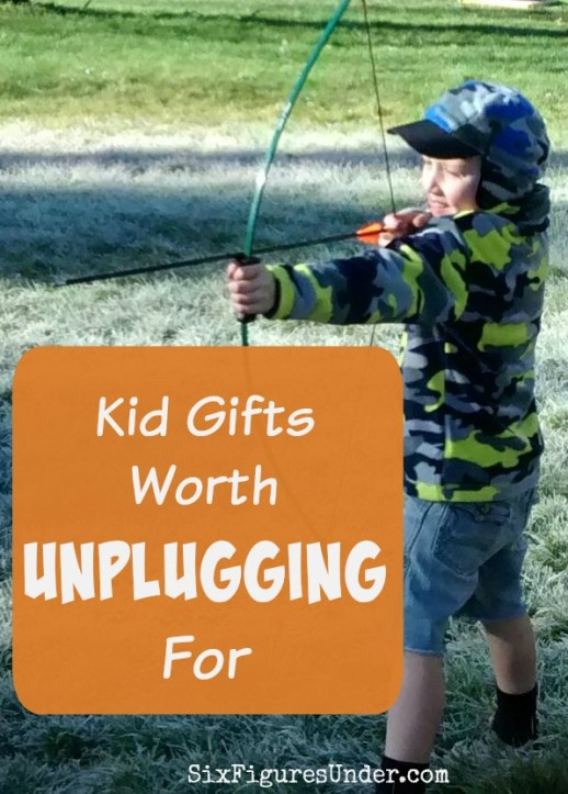 Are your kids getting too much screen-time? Here are some great, tried and true kids gifts that are worth unplugging for. They might just encourage the adults to put down their devices too!