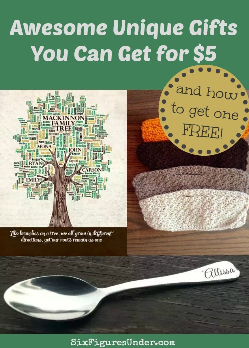 There are so many great options for both digital and physical personalized gifts that you can get for $5. She even show you how to get one free!