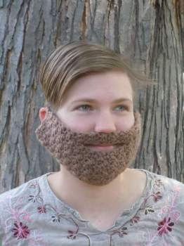 Crocheted beard-- A unique gift you can get on Fiverr