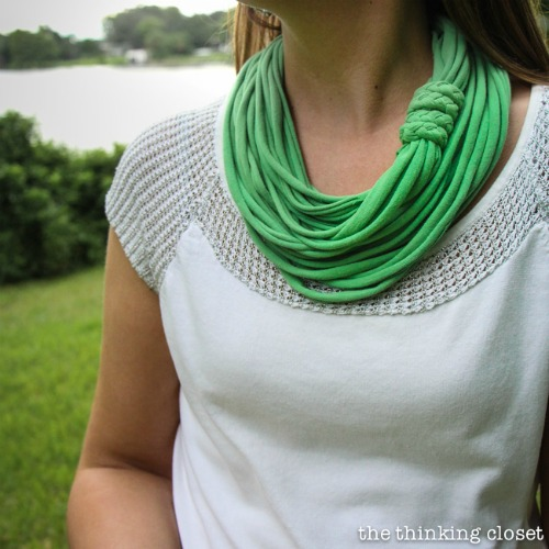 No-Sew Infinity T-Shirt Scarf video Tutorial
