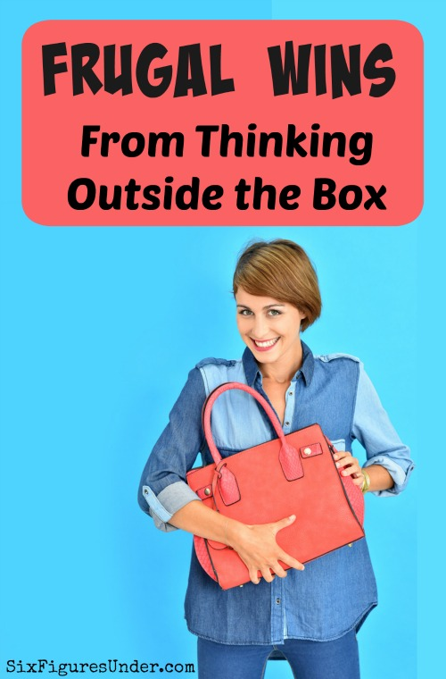 When you're in the habit of thinking creatively, you'll find lots of ways that you can meet your family's needs (and wants) for less. Challenge yourself to think outside the box next time you need something or you're out shopping. But beware...
