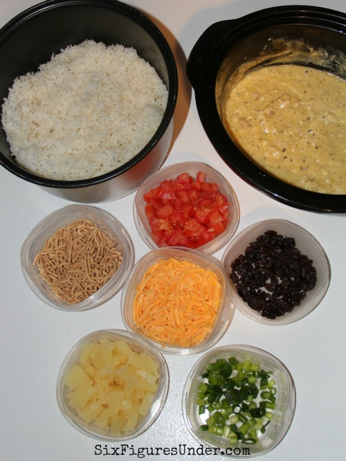 Hawaiian Haystack toppings