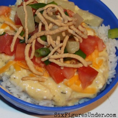 Hawaiian Haystacks is a favorite frugal dinner at our house