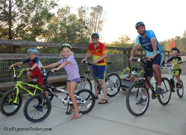 Our reward to ourselves for paying off debt was bikes for the whole family