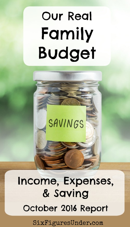 Want to see a real family budget in action? We share our family's budget in detail each month including all of our income, expenses, and savings. It's personal finance made public.