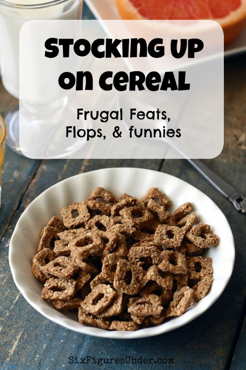 Do you stock up on cold cereal? Stocking up on cereal is a great way to save money. Sometimes it's even the source of frugal feats, flops and funnies.