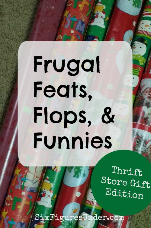 This week's frugal line-up includes thrifty but thoughtful Christmas gifts, cheap wrapping paper, bulk meat, and primitive tools!