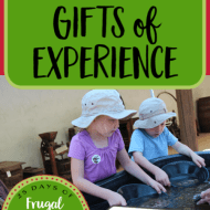 Giving Gifts of Experience– Frugal Festivities Day #17