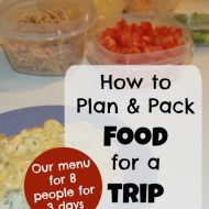How to plan and pack food for a trip (8 people for 3 days)