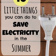 10 Little things you can do to save electricity in the summer