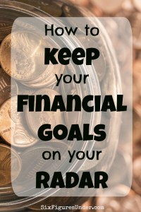 Keep your Financial Goals on your Radar