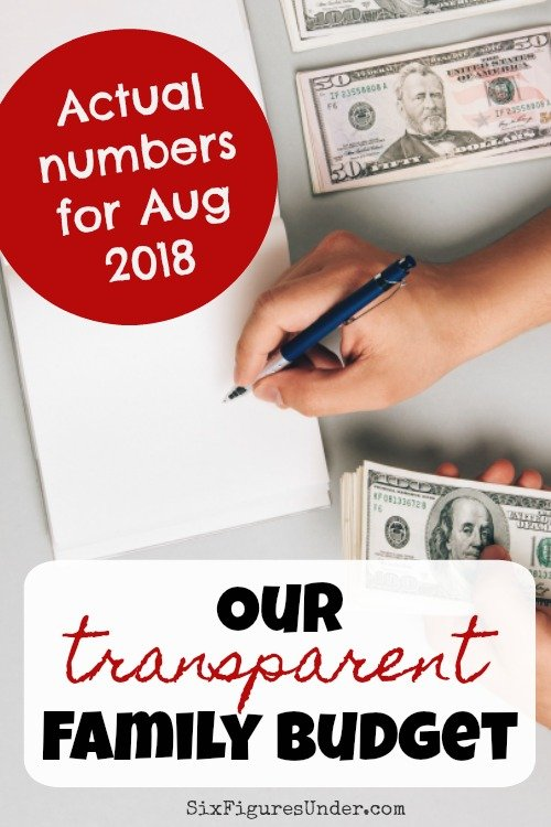 transparent family budget update august 2018 six figures under
