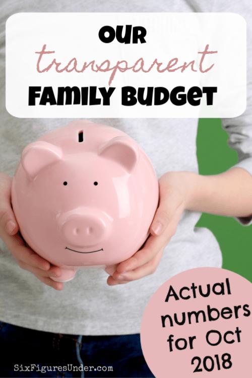 Transparent Family Budget Update-- October 2018