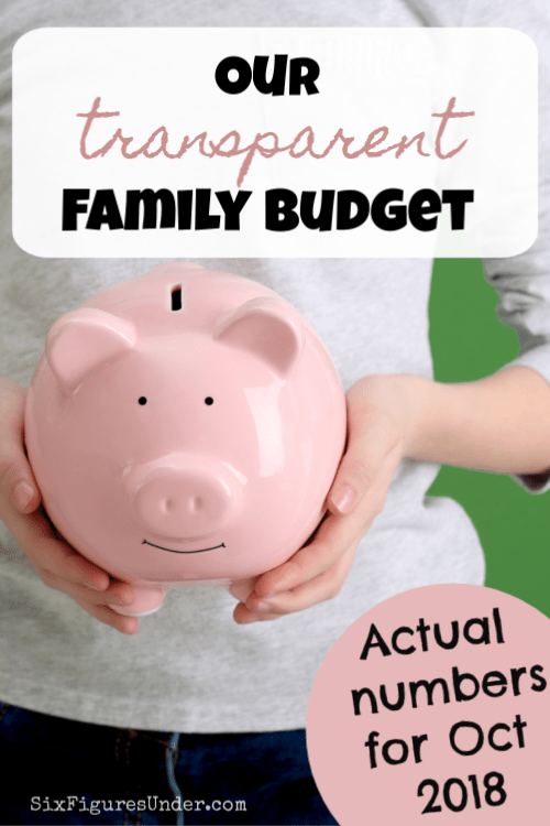 transparent family budget update october 2018 six figures under