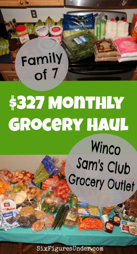 Last year we averaged $403/month for food. I spend the majority of that in one monthly grocery shopping trip. I'll show you everything I bought for $327 in January.