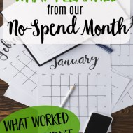 What I Learned from a No-Spend Month– What Worked and What Didn't