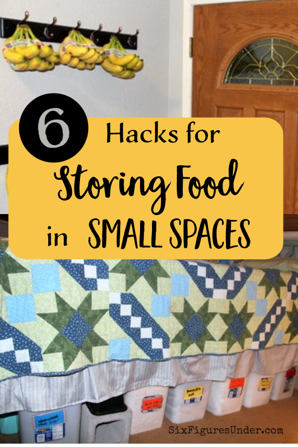 Just because you live in a small space doesn't mean you can't store food. With a little creativity, you can make lots of room for stocking up on groceries!