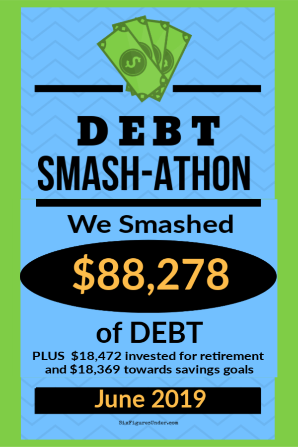 During June 2019 Debt Smash-athon participants smashed more than $88 K of debt!