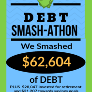 Debt Smash-athon JULY Progress Report