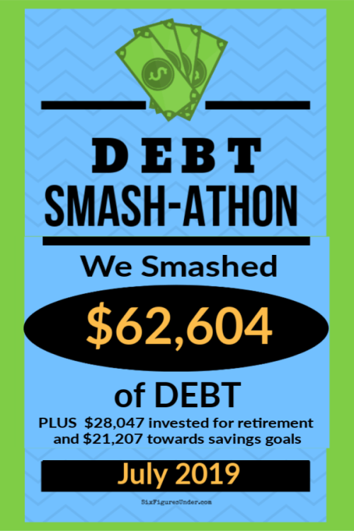 During the Debt Smash-athon in July, readers banded together to pay off over $60K of debt!