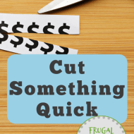 Cut Something Quick to Jumpstart Your Progress