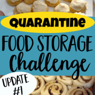 Quarantine Food Storage Challenge– Update 1