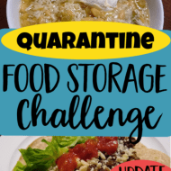 Quarantine Food Storage Challenge- Update 6