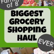 Biggest Grocery Haul EVER– June 2020