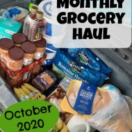 October 2020 Monthly Grocery Haul