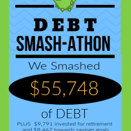 Debt Smash-athon SEPTEMBER 2020 Progress Report