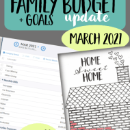 Real Family Budget Update– March 2021