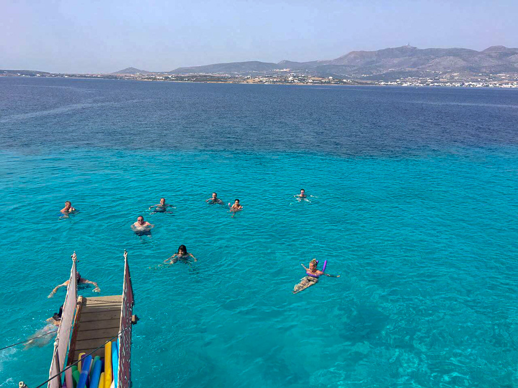 swimming-in-blue-water-greece