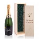 Champagne met gravering