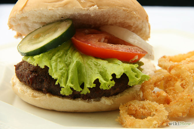 Hamburger-Egg-Sandwich
