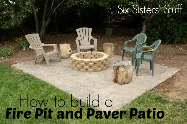 how to build a fire pit and paver patio