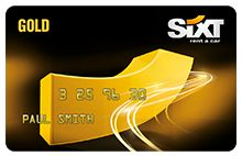 gold card from Sixt rent a car