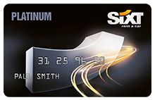 Platinum card for Sixt car rentals