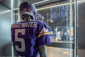 NFL's Vikings Use Transparent OLEDs To Tell History Of Team Uniforms