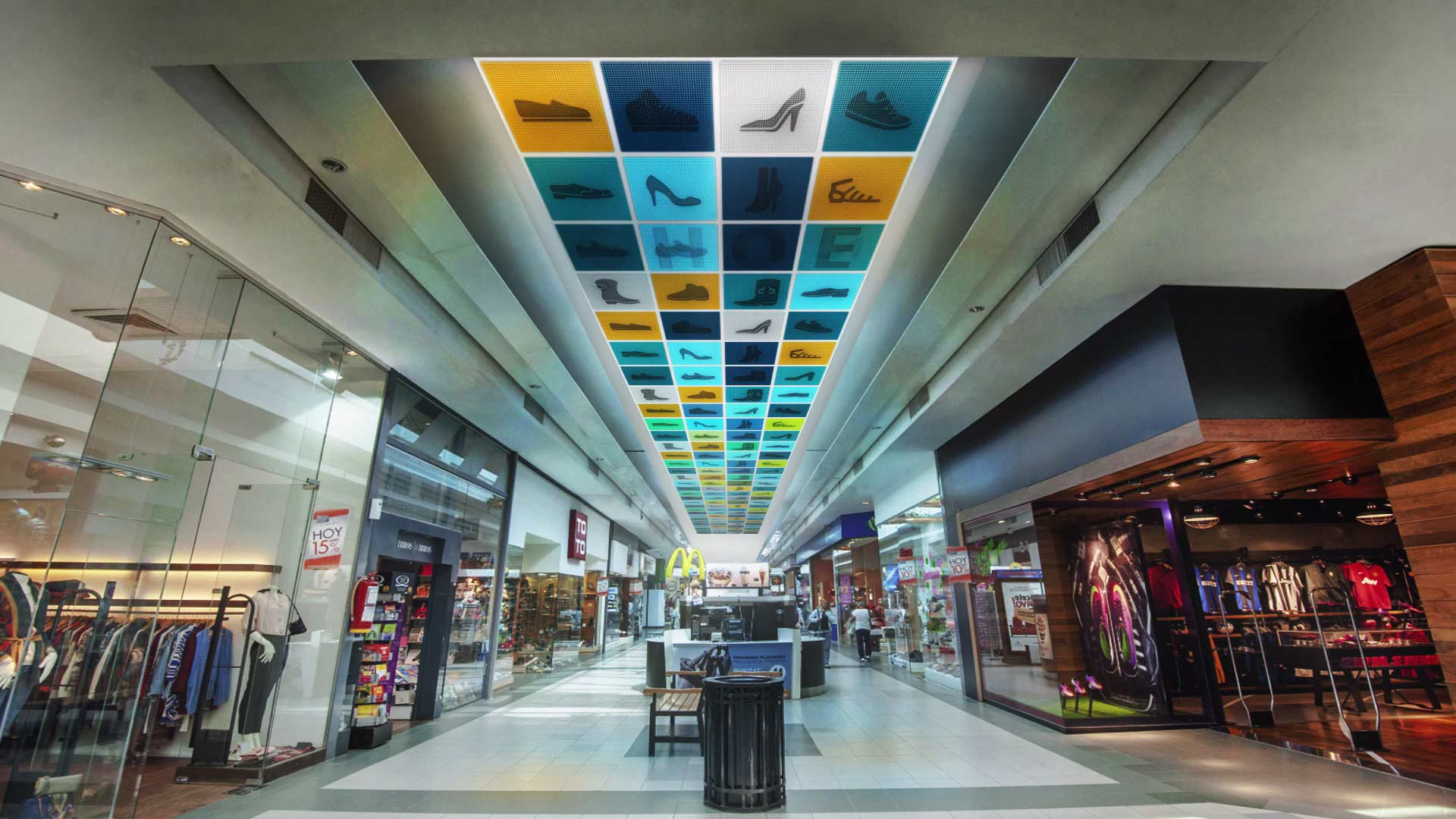 Dutch Firms Led Panels Replace Regular Acoustic Tiles To Create