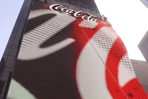 Video: Coca-Cola's Morphing Times Square LED Board