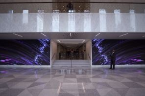 Twin Experiential LED Video Walls Light Up Lobby Of Chicago's Aon Center