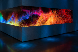 Generative Visuals Derived From Famous Artworks Fills Huge LED Canvas At Dolby's HQ