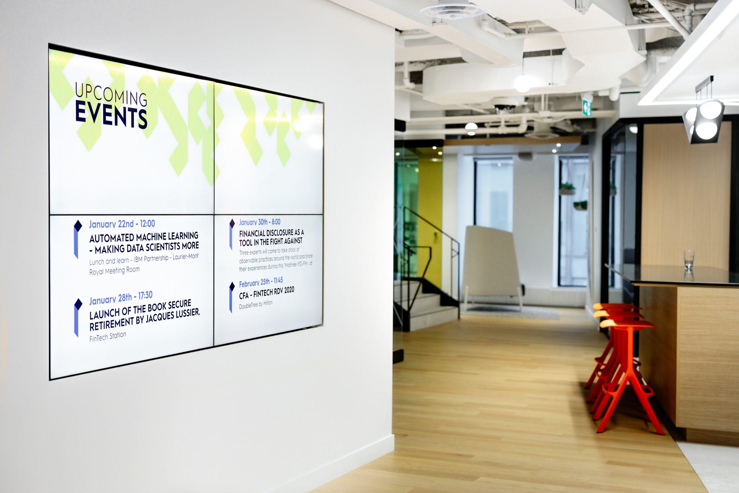 FinTech digital signage