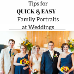 wedding family picture tips