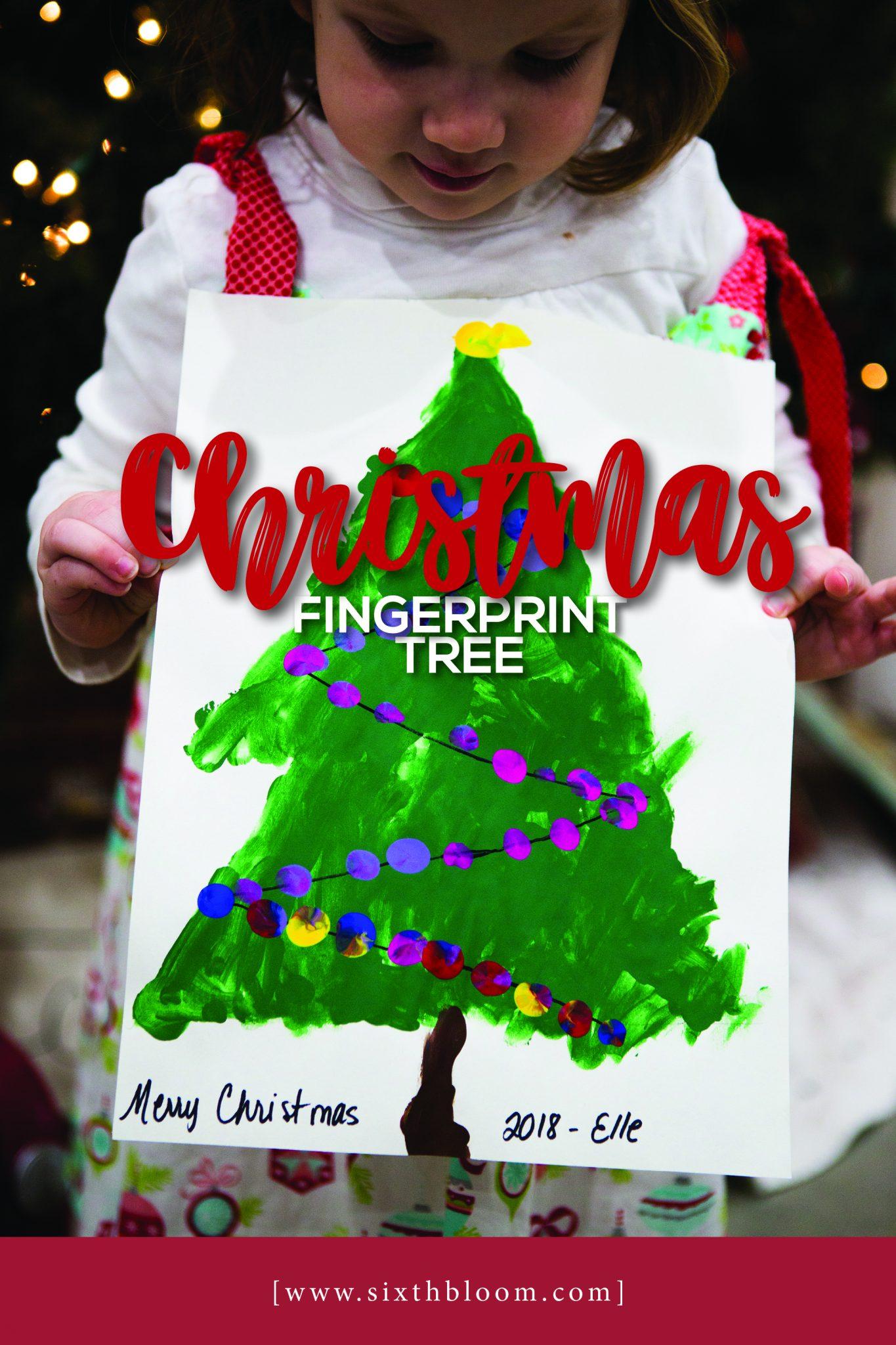 Christmas Fingerprint Tree