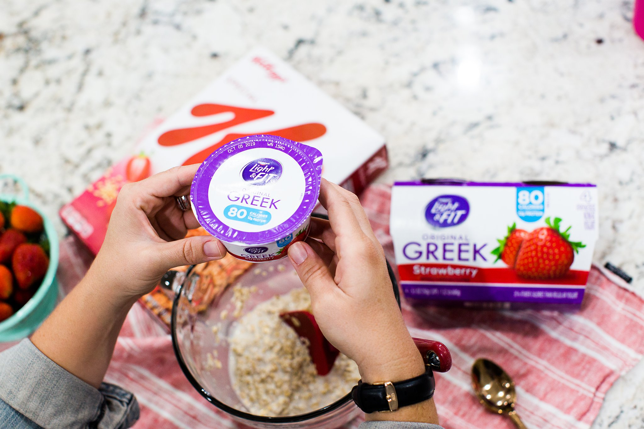 using greek yogurt in overnight oats recipe