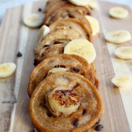 Chunky Monkey Mini Pancakes