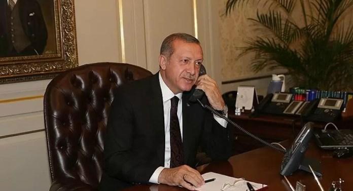 Tayyip Erdoğan telefon