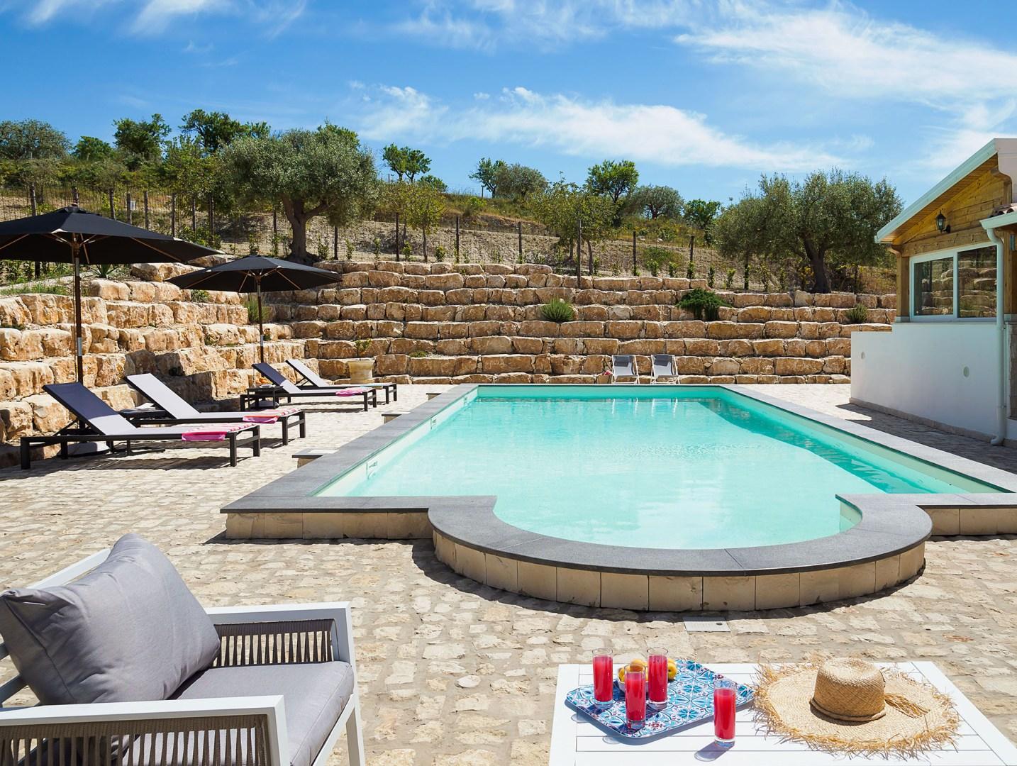 Pool Sizilien Villa